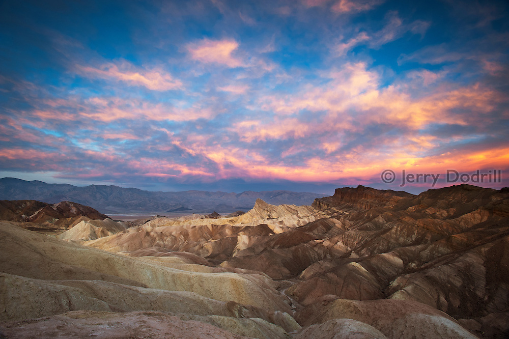 Sunrise at Zabriskie Point in Death Valley National Park, California