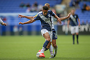 Callum Robinson (Preston North End) is tackled during the Pre-Season Friendly match between Bolton Wanderers and Preston North End at the Macron Stadium, Bolton, England on 30 July 2016. Photo by Mark P Doherty.