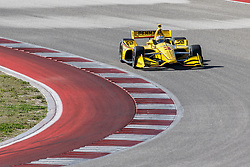 February 12, 2019 - U.S. - AUSTIN, TX - FEBRUARY 12: Helio Castroneves (3) in a Chevrolet powered Dallara IR-12 at turn 2 during the IndyCar Spring Training held February 11-13, 2019 at Circuit of the Americas in Austin, TX. (Photo by Allan Hamilton/Icon Sportswire) (Credit Image: © Allan Hamilton/Icon SMI via ZUMA Press)