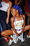 Girl dancing in the street Notting Hill Carnival London 2002