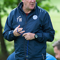 St Johnstone FC Training….Manager Tommy Wright pictured during pre-season training.<br />Picture by Graeme Hart.<br />Copyright Perthshire Picture Agency<br />Tel: 01738 623350  Mobile: 07990 594431