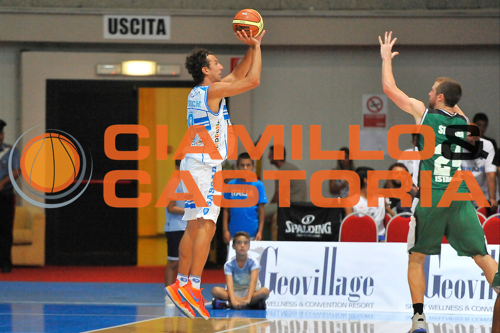 DESCRIZIONE : Torneo Internazionale Geovillage Olbia Dinamo Banco di Sardegna Sassari - Darussafaka Bogus<br /> GIOCATORE : Giacomo Devecchi<br /> CATEGORIA : Tiro Tre Punti Controcampo<br /> SQUADRA : Dinamo Banco di Sardegna Sassari<br /> EVENTO : Torneo Internazionale Geovillage Olbia<br /> GARA : Dinamo Banco di Sardegna Sassari - Darussafaka Bogus<br /> DATA : 06/09/2014<br /> SPORT : Pallacanestro <br /> AUTORE : Agenzia Ciamillo-Castoria / Luigi Canu<br /> Galleria : Precampionato 2014/2015<br /> Fotonotizia : Torneo Internazionale Geovillage Olbia Dinamo Banco di Sardegna Sassari - Darussafaka Bogus<br /> Predefinita :