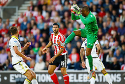 Eloy Room of Vitesse Arnhem saves another Southampton attempt at goal - Mandatory by-line: Jason Brown/JMP - Mobile 07966386802 - 31/07/2015 - SPORT - FOOTBALL - Southampton, St Mary's Stadium - Southampton v Vitesse Arnhem - Europa League