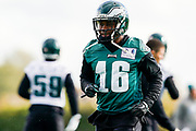 Philadelphia Eagles DeAndre Carter WR (16) during the press, training and media day for Philadephia Eagles at London Irish Training Ground, Hazelwood Centre, United Kingdom on 26 October 2018. Picture by Jason Brown.