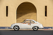 So what if she's got a blemish or two? I love her. Image of a rusty old 1952 pre-A 356 Porsche in southern California, America west coast