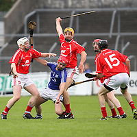 12/10/13 Cratloe's Damian Brown comer under pressure from four Crusheen players in Cusack Park. Pic Tony Grehan / Press 22