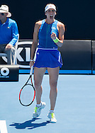 ANDREA PETKOVIC (GER) macht die Faust und jubelt,Jubel,Emotion<br /> <br /> Australian Open 2017 -  Melbourne  Park - Melbourne - Victoria - Australia  - 19/01/2017.