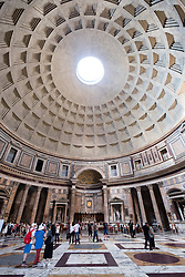 Interior of the Pantheon, on Piazza della Rotonda,  Rome, Italy