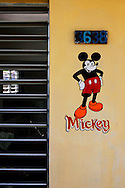 Mickey Mouse in Candelaria, Artemisa, Cuba.