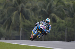 November 3, 2018 - Sepang, Malaysia - EG 0,0 Marc VDS Moto2 rider Alex Marquez of Spain powers his bike during free practice 3 session of Malaysian Motorcycle Grand Prix at Sepang International Circuit in Sepang, November 3, 2018. (Credit Image: © Zahim Mohd/NurPhoto via ZUMA Press)