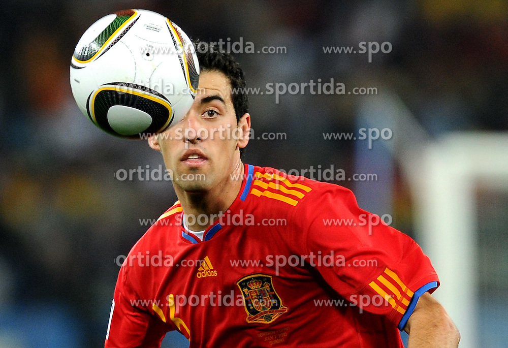07.07.2010, Moses Mabhida Stadium, Durban, SOUTH AFRICA, Deutschland GER vs Spanien ESP im Bild Joan Capdevila, EXPA Pictures © 2010, PhotoCredit: EXPA/ InsideFoto/ Perottino *** ATTENTION *** FOR AUSTRIA AND SLOVENIA USE ONLY! / SPORTIDA PHOTO AGENCY