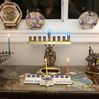 Lauren Wood | Buy at photos.djournal.com<br /> A collection of menorahs sit on display in Mimi VanDevender's home after the first candles were lit on Dec. 6.