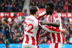 Mame Biram Diouf of Stoke City celebrates after scoring his sides first goal - Mandatory by-line: Matt McNulty/JMP - 30/09/2017 - FOOTBALL - Bet365 Stadium - Stoke-on-Trent, England - Stoke City v Southampton - Premier League