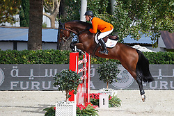 Greve Willem (NED) - Carambole<br /> Furusiyya FEI Nations Cup Jumping Final Round 1<br /> CSIO Barcelona 2013<br /> © Dirk Caremans