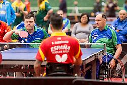 Primoz Kancler and Bojan Lukezic of Slovenia at 14th Slovenia Open - Thermana Lasko 2017 Table Tennis for the Disabled Factor 40, on May 7, 2017, in Dvorana Tri Lilije, Lasko, Slovenia. Photo by Urban Urbanc / Sportida