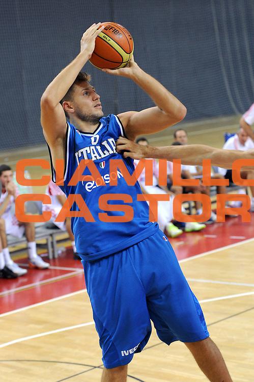 DESCRIZIONE : Porec Amichevole Croazia Italia<br /> GIOCATORE : Stefano Mancinelli<br /> CATEGORIA : tiro<br /> SQUADRA : Nazionale Italia Maschile<br /> EVENTO : Amichevole Italia Croazia<br /> GARA : Italia Croazia<br /> DATA : 09/08/2012<br /> SPORT : Pallacanestro<br /> AUTORE : Agenzia Ciamillo-Castoria/C.De Massis<br /> Galleria : FIP Nazionali 2012<br /> Fotonotizia : Porec Amichevole Croazia Italia<br /> Predefinita :
