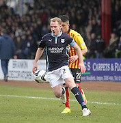Dundee's Gary Irvine goes past Partick Thistle's Declan McDaid - Dundee v Partick Thistle, SPFL Premiership at Dens Park<br /> <br />  - &copy; David Young - www.davidyoungphoto.co.uk - email: davidyoungphoto@gmail.com
