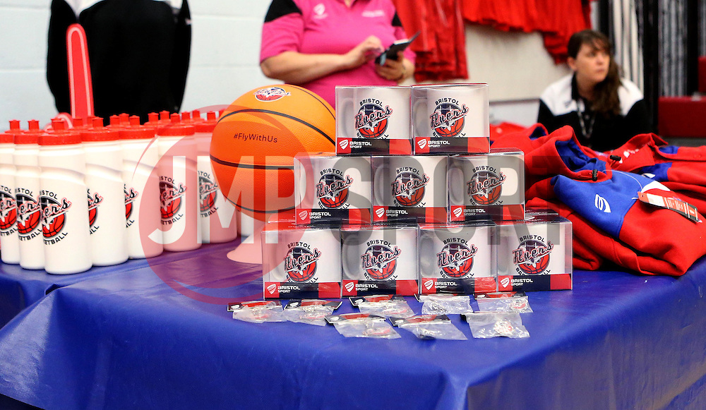 Bristol Flyers merchandise stall - Photo mandatory by-line: Robbie Stephenson/JMP - 17/09/2016 - BASKETBALL - SGS Wise Arena - Bristol, England - Bristol Flyers v Worcester Wolves - Exhibition Game