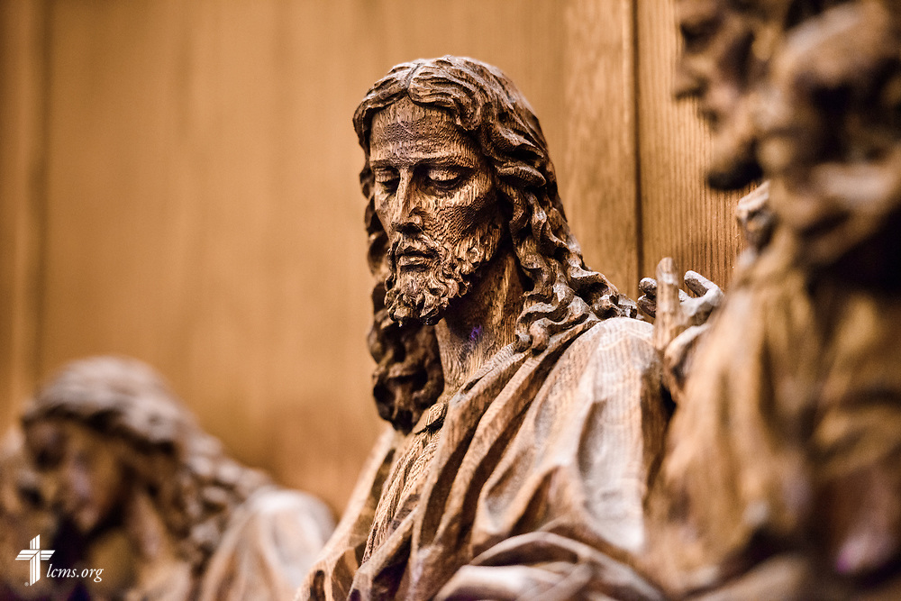 Altar wood sculptures at Nazareth Lutheran Church, Baltimore, on Saturday, March 24, 2018. LCMS Communications/Erik M. Lunsford