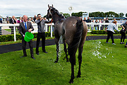 Lucky Number ridden by Georgia Cox and trained by William Haggas in the Sky Sports Racing Virgin 535 Handicap (Class 6) race. - Ryan Hiscott/JMP - 07/08/2019 - PR - Bath Racecourse - Bath, England - Race Meeting at Bath Racecourse