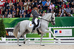 José Antonio Garcia Mena, (ESP), Norte Lovera - Grand Prix Special Dressage - Alltech FEI World Equestrian Games™ 2014 - Normandy, France.<br /> © Hippo Foto Team - Leanjo de Koster<br /> 25/06/14