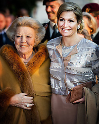 59604333 .Dutch Queen Maxima (R) and Princess Beatrix arrive to attend the annual concert marking the Liberation Day, Amsterdam, Netherlands, May 05, 2013. Photo by: i-Images.UK ONLY