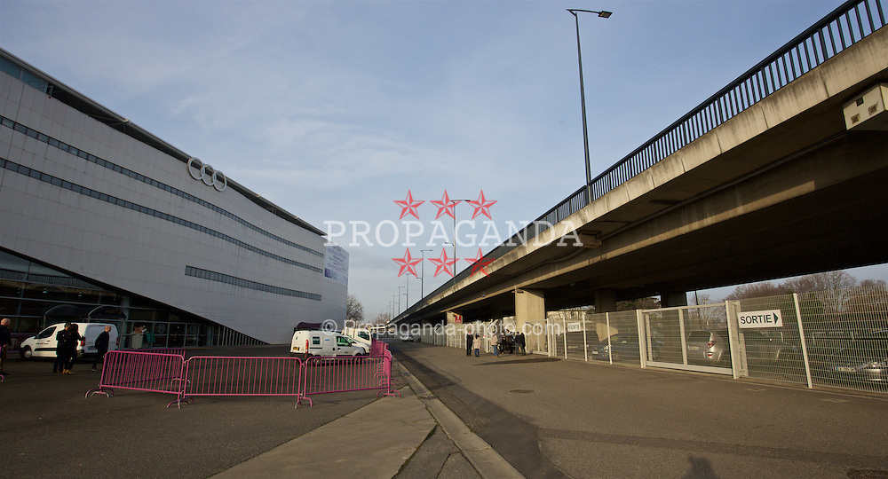 TOULOUSE, FRANCE - Tuesday, January 26, 2016: An exterior view of the Stadium de Toulouse on an inspection visit ahead of the UEFA Euro 2016 Tournament. (Pic by David Rawcliffe/Propaganda)