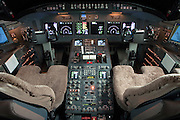 Challenger 604 cockpit, built by the Bombardier Corporation of Canada.