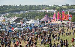 ©London News Pictures. Glastonbury Festival 2015 - Thursday, Worthy Farm, Pilton.<br /> <br /> Date: 25/06/2015<br /> Photographer: Artur Lesniak /LNP