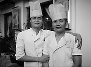 Brothers work together as chefs at a Shanghai restaurant.