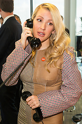 © Licensed to London News Pictures. 11/09/2017. ELLIE GOULDING takes part in the on the annual BGC Partners Charity Day in commemoration of its 658 friends and colleagues and 61 Eurobroker employees lost in the World Trade Center attacks on 9/11. PIcture Credit: Tang/LNP