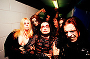 """Cradle Of Filth"" about to go onstage, UK 2000's"