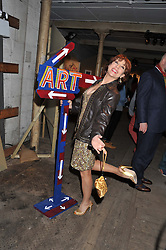 KATHY LETTE at the Contemporary Art Society's Gala evening held at the Farmiloe Buildings, St.John Street, London EC1 on 29th February 2012.