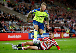 Johnny Russell of Derby County takes on Aiden McGeady of Sunderland - Mandatory by-line: Matt McNulty/JMP - 04/08/2017 - FOOTBALL - Stadium of Light - Sunderland, England - Sunderland v Derby County - Sky Bet Championship