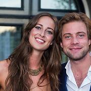 NLD/Amsterdam/20130903 - Inloop premiere Stiletto 2, Jelle de Jong en partner