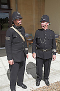 Living History event. Police uniforms in the nineteen forties.