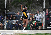Jordan McClendon (724) of Missouri throws in the women's hammer during the NCAA West Track & Field Preliminary, Thursday, May23, 2019, in Sacramento, Calif.