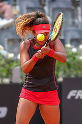 May 14, 2018 - Rome, Rome, Italy - 14th May 2018, Foro Italico, Rome, Italy; Italian Open Tennis; Naomi Osaka (JPN) in action during her match won 6-0, 6-3 against Victoria Azarenka (BLR) Credit: Giampiero Sposito/Pacific Press  (Credit Image: © Giampiero Sposito/Pacific Press via ZUMA Wire)