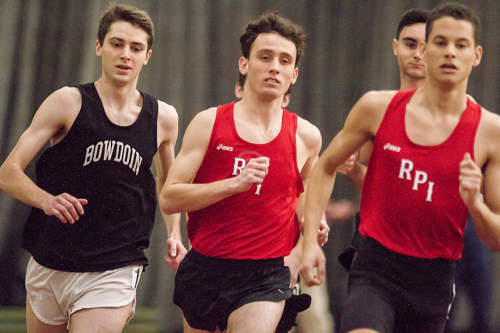 Bowdoin Indoor 4-way track meet: mens mile