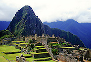 Machu Picchu ruins of Inca citadel in Peru, South America