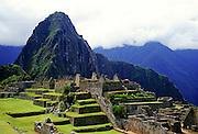 Machu Picchu ruins of Inca citadel in Peru, South America
