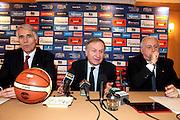 Roma, 09/03/2013<br /> Conferenza Stampa Fip - Coni<br /> Nella foto: giovanni petrucci, giovanni malago<br /> Foto ciamillo