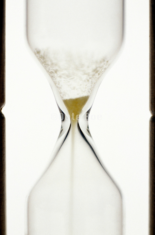 sand through an hourglass