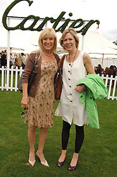 Left to right, ANGIE BEST former wife of the late footballer George Best and mother of Callum Best and JULIET HERD at the Cartier International polo at Guards Polo Club, Windsor Great Park on 29th July 2007.<br />