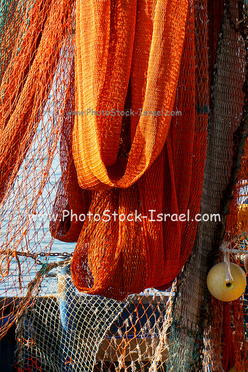 fishnets on the wharf, Photographed in Israel, Jaffa ancient port