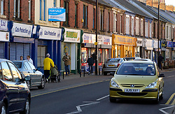 Traffic in Wallsend High Street; Tyneside; NE England