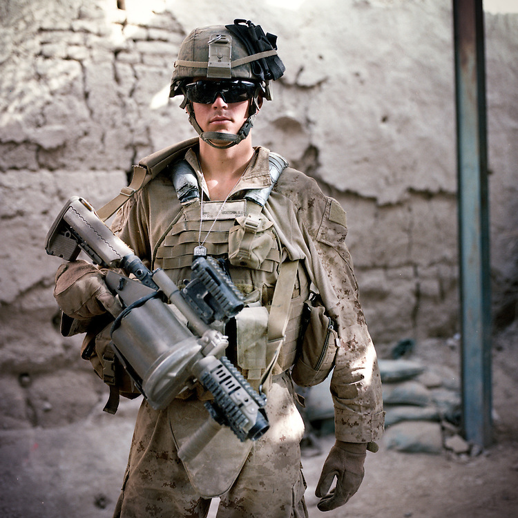 Location:<br /> Patrol Base Fires, Sangin District, Helmand Province, Afghanistan<br /> <br /> Unit: <br /> 3rd Squad, 1st Platoon, Bravo Company, 1st Battalion, 5th Marines<br /> <br /> Name and Rank: Private First Class Scott McEtchin<br /> <br /> Age: 20<br /> <br /> Hometown: Pleasanton, California<br /> <br /> Interview selections:<br /> <br /> Why did you join the Marines?<br /> <br /> &quot;I joined the Marine Corps because I was kicked out of my house while I was going to college and ah, just started ah, being financially unstable. So I joined the Marine Corps basically so I could have a stable lifestyle I guess . . . And get away from home.&quot;<br /> <br /> Describe Sangin:<br /> <br /> &quot;When I pictured Afghanistan, it was mountains, and there&rsquo;s a lot of lush greenery everywhere, and I thought Afghanistan was just desert. And the people are very nice. They have very little and they&rsquo;re always willing to give you anything. They&rsquo;ll take you in their house, feed you, and for the most part they&rsquo;re really good people.&quot;<br /> <br /> &quot;They&rsquo;ll feed us, ah, anything from yogurt, which is pretty nasty cuz it&rsquo;s straight from their cows and goats. They&rsquo;ll feed us bread, it&rsquo;s like flatbread, kinda like a tortilla or a pita, that they make. It&rsquo;s called derday. And then they&rsquo;ll feed us rice or pilau.&quot;<br /> <br /> What do you think of the Taliban?<br /> <br /> &quot;I think the Taliban&mdash;as far as fighting us&mdash;is composed of younger people just looking for a  purpose in their life, 'cause in Afghanistan and the surrounding countries, you know Pakistan, Iran, a lot of the people are poor and have nothing, and they&rsquo;re looking for a way out and something that they can do with their life, so, America&rsquo;s here. They can fight America, they can get paid, they can be doing something other than farming land or selling goats at the bazaar, so, that&rsquo;s why I think they fight us.