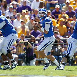 October 1, 2011; Baton Rouge, LA, USA;  Kentucky Wildcats quarterback Maxwell Smith (11) against the LSU Tigers during the third quarter at Tiger Stadium. LSU defeated Kentucky 35-7. Mandatory Credit: Derick E. Hingle-US PRESSWIRE / © Derick E. Hingle 2011