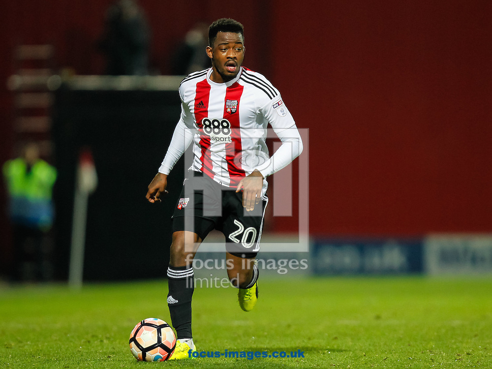 Josh Clarke of Brentford during the FA Cup 3rd round match between  Brentford and Eastleigh FC  at Griffin Park, London<br /> Picture by Mark D Fuller/Focus Images Ltd +44 7774 216216<br /> 07/01/2017