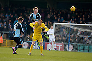 Jason McCarthy of Wycombe Wanderers  during the Sky Bet League 2 match between Wycombe Wanderers and Bristol Rovers at Adams Park, High Wycombe, England on 27 February 2016. Photo by Dennis Goodwin.